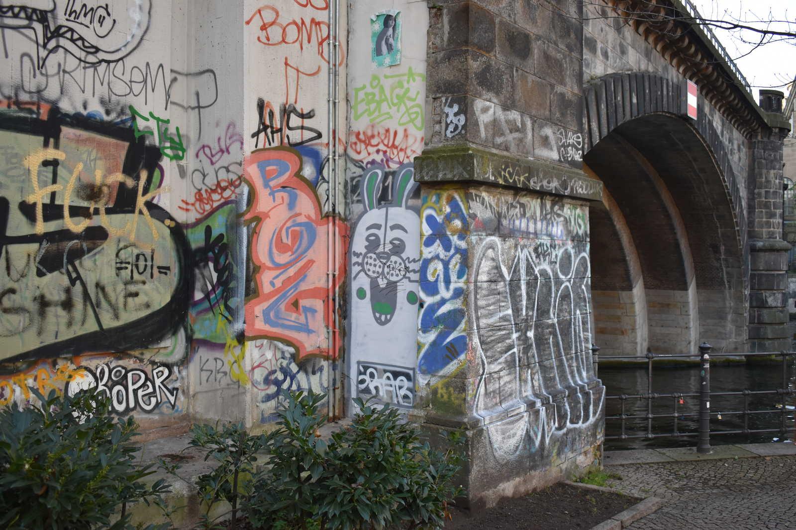 Bunte Wände in Berlin-Mitte